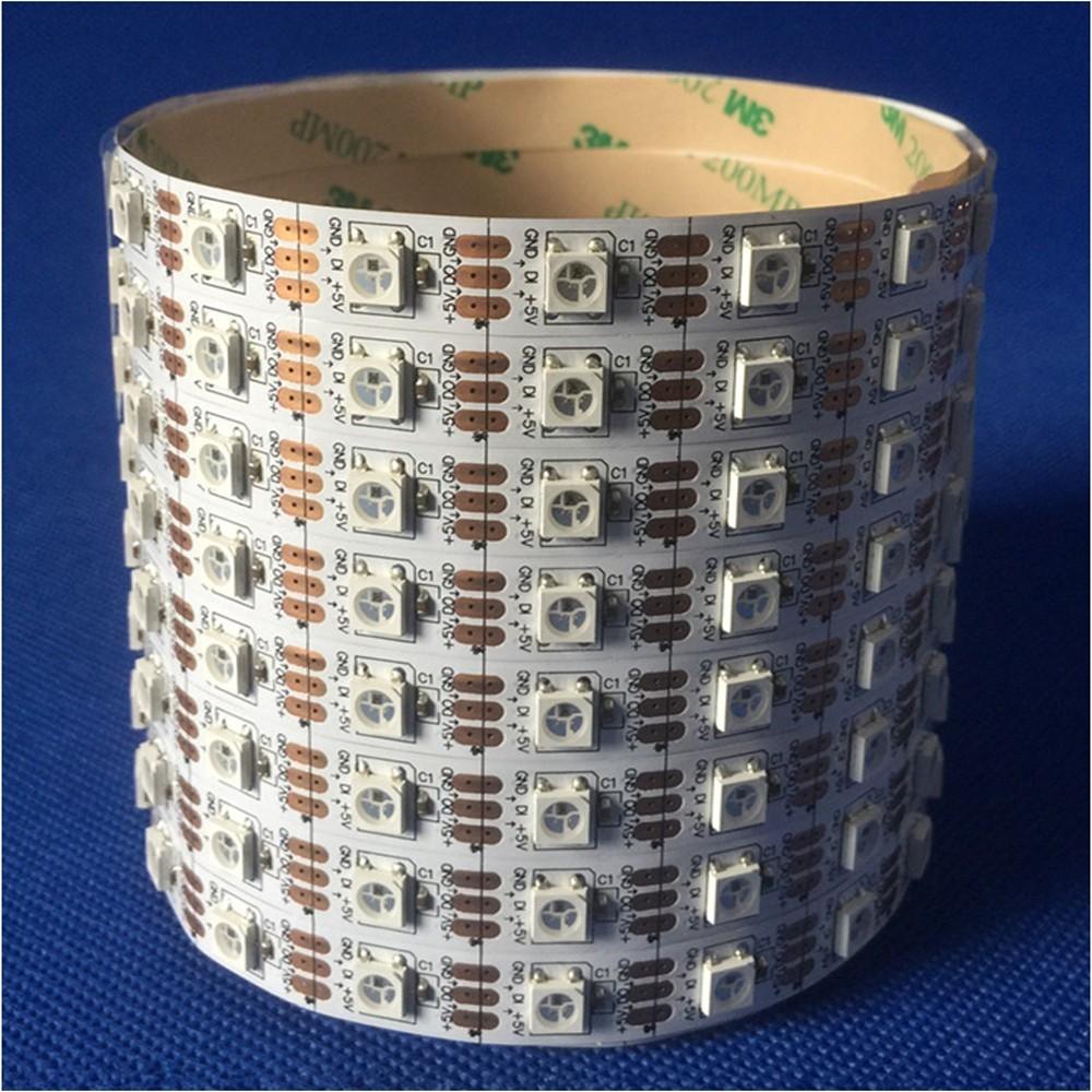 led景观亮化常规内置芯片全彩灯带 60段外控可编程控制 型号 LGM-DD-5V-60L-60LED RGB5050灯珠内置IC