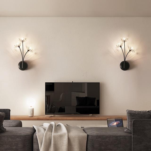 led景观亮化创意蒲公英床头壁灯 卧室装饰灯具3头过道灯北欧灯饰LED楼梯壁灯型号LGM-BDJNDZ-006