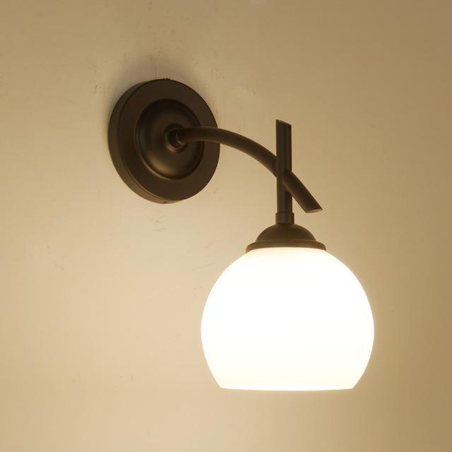 led景观亮化美式铁艺单头壁灯北欧现代简约田园玻璃客厅卧室床头餐厅挂灯型号LGM-BDJNDZ-MX2272