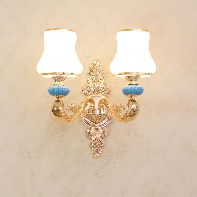 欧式壁灯走廊过道床头轻奢装饰壁灯奢华大气客厅背景墙壁灯厂家型号LGM-BDJNDZ-012