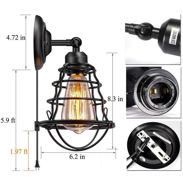 跨境复古工业壁灯可调节金属壁灯卧室床头客厅走廊照明灯型号LGM-BDJNDZ-013