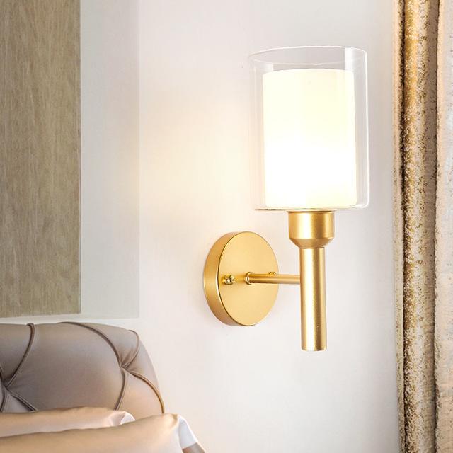 北欧LED壁灯现代简约创意客厅卧室床头楼梯过道墙壁家用玻璃壁灯型号LGM-BDJNDZ-014