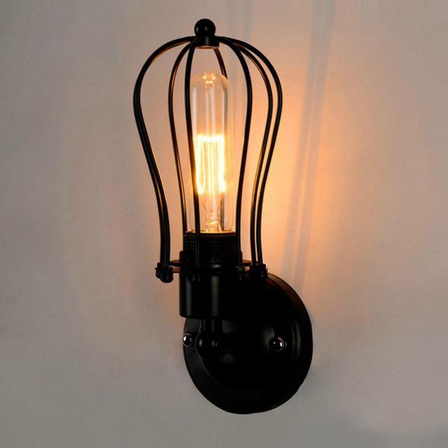 跨境货源美式乡村工业风复古楼梯过道走廊阳台卧室床头灯壁灯灯具型号LGM-BDJNDZ-015