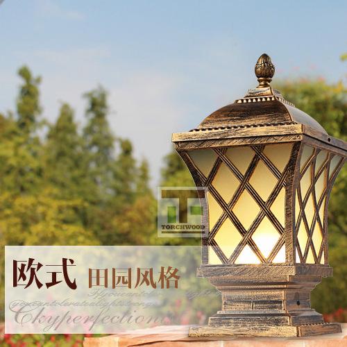 新款欧式复古led庭院灯 户外照明网状墙头灯 花园别墅围墙柱头灯