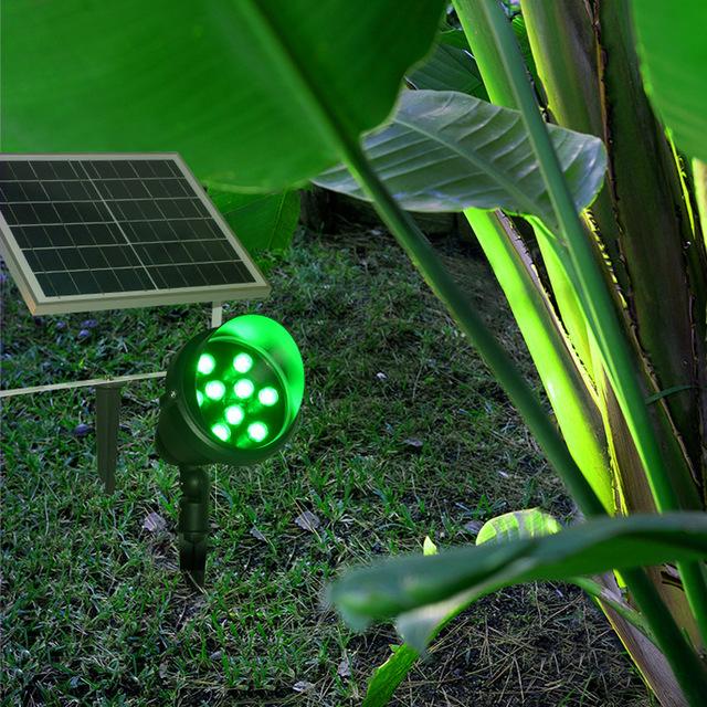 太阳能插地灯LED草坪射灯射树灯户外花园庭院园林景观装饰照树灯