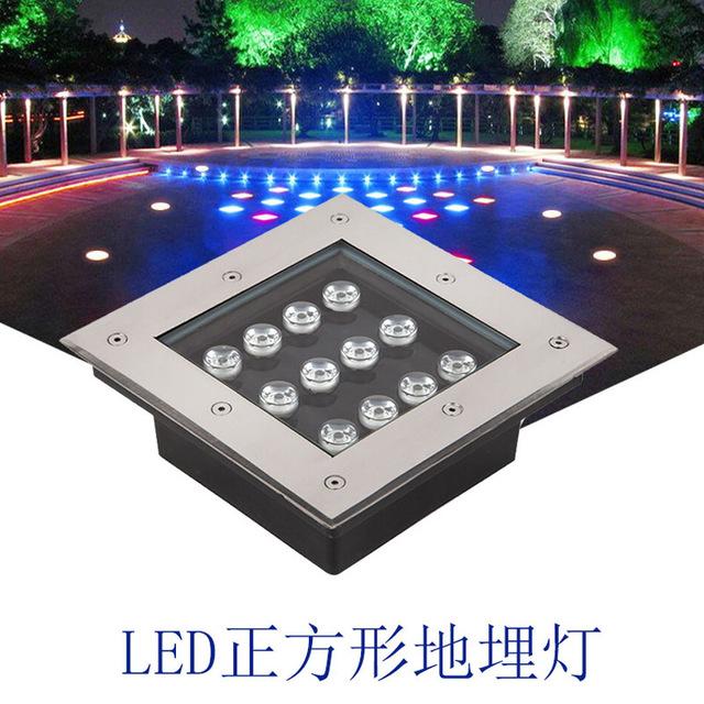 LED正方形地埋灯户外景观公园嵌入式地灯地射灯埋地灯防水地砖灯