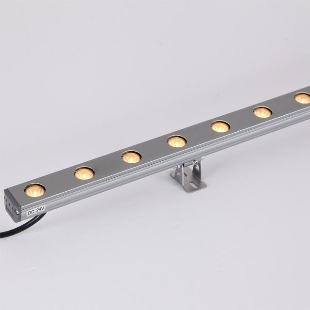 led洗墙灯户外楼体亮化线条灯防水工程建筑外墙轮廓线形灯18W七彩