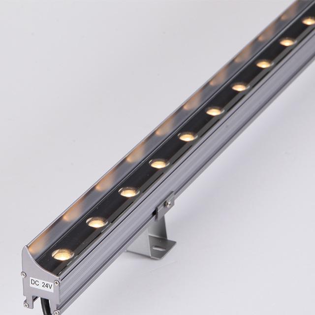 led洗墙灯户外楼体桥梁线条灯外墙轮廓灯建筑景观亮化灯18W七彩
