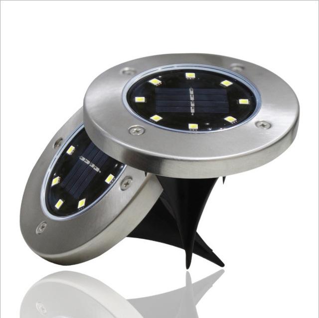 跨境专供LED太阳能不锈钢草坪灯户外插地引路灯地埋灯庭院花园灯 型号LGM-DMD-HC185