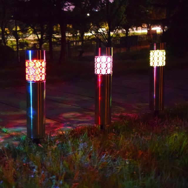 跨境太阳能不锈钢立柱草坪灯 户外防雨庭院地插草坪灯 装饰灯 型号LGM-CPD-HC203