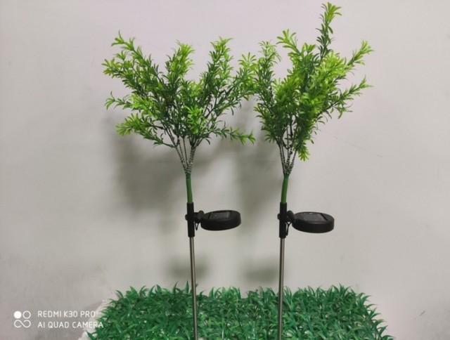 太阳能花园灯仿真圣诞树灯28灯彩色庭院装饰花园景观地插草坪灯 型号LGM-JGD-QT214