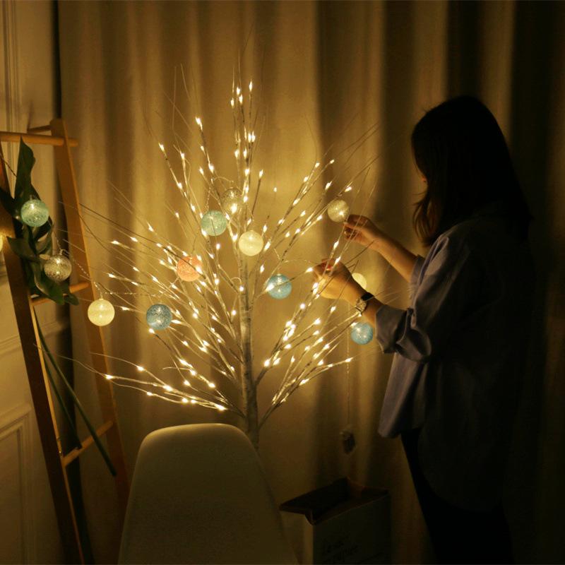 厂家直销LED仿真白桦树灯 温馨庭院景观树灯 节日仪式装饰彩灯 型号LGM-JRD-SD275