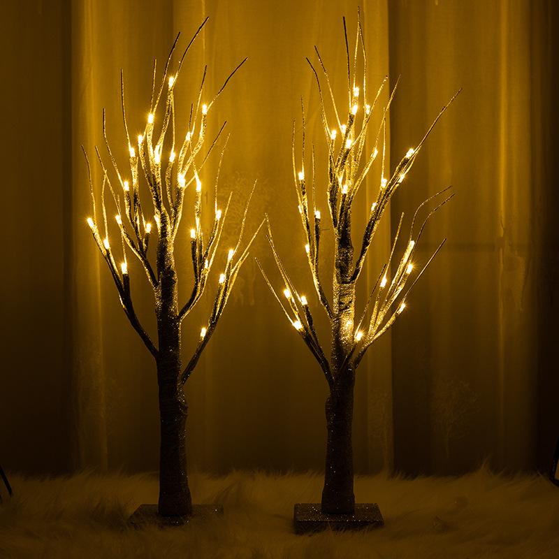 跨境led枯枝灯植皮高仿雪树灯圣诞节日装饰led白桦树灯 型号LGM-JRD-SD277