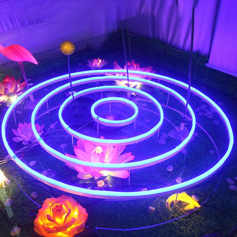 LED创意装饰水波灯户外防水池塘荷塘水池景观灯公园景区装饰灯 型号LGM-JRD-SBD290
