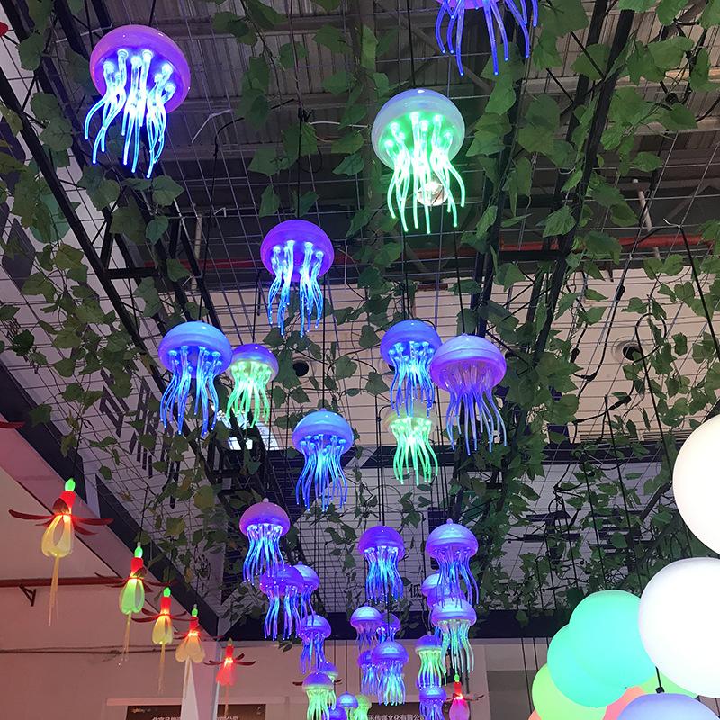 亚克力水母灯led景观灯仿真水母灯星空博物馆装饰灯树木亮化挂饰 型号LGM-JRD-SMD301