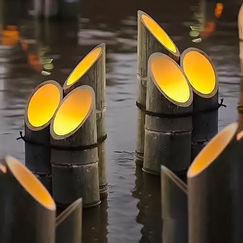 led景观亮化竹筒灯led仿真竹子灯户外竹灯草坪庭院地插景观灯河边草地亮化灯 型号LGM-DZD-ZZD329