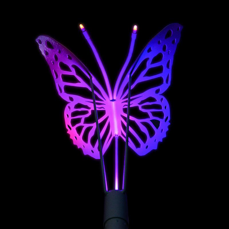 led景观亮化不锈钢蝴蝶灯led景观灯户外造型灯RGB七彩射灯2.5米园林景区亮化 型号LGM-DZD-HDD335