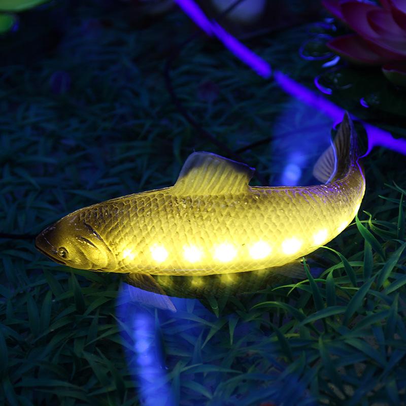 led景观亮化鲤鱼装饰灯水池鱼缸装饰灯人工湖水上景观装饰灯非标定制灯饰 型号LGM-DZD-YD337
