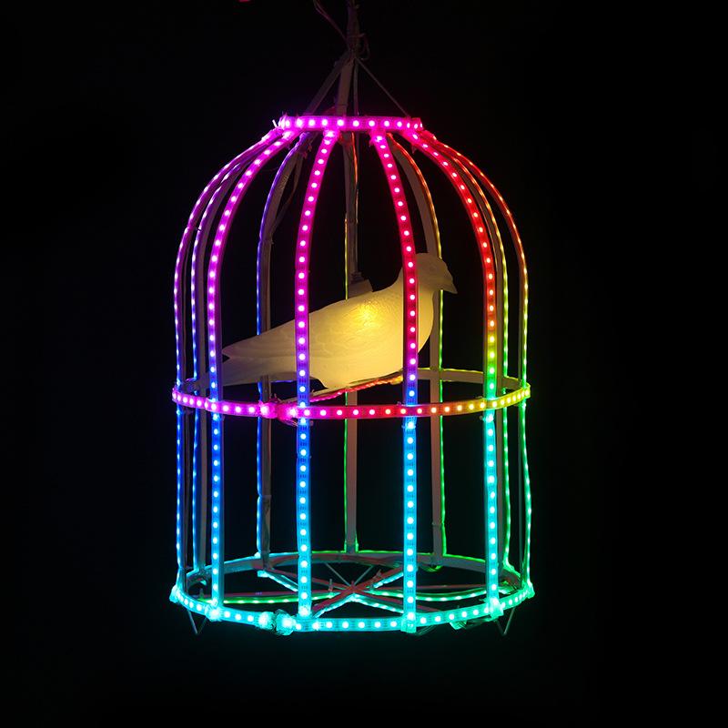 led景观亮化鸟笼造型灯景观灯树木装饰灯公园景观灯春节装饰厂家非标定制 型号LGM-DZD-NND338