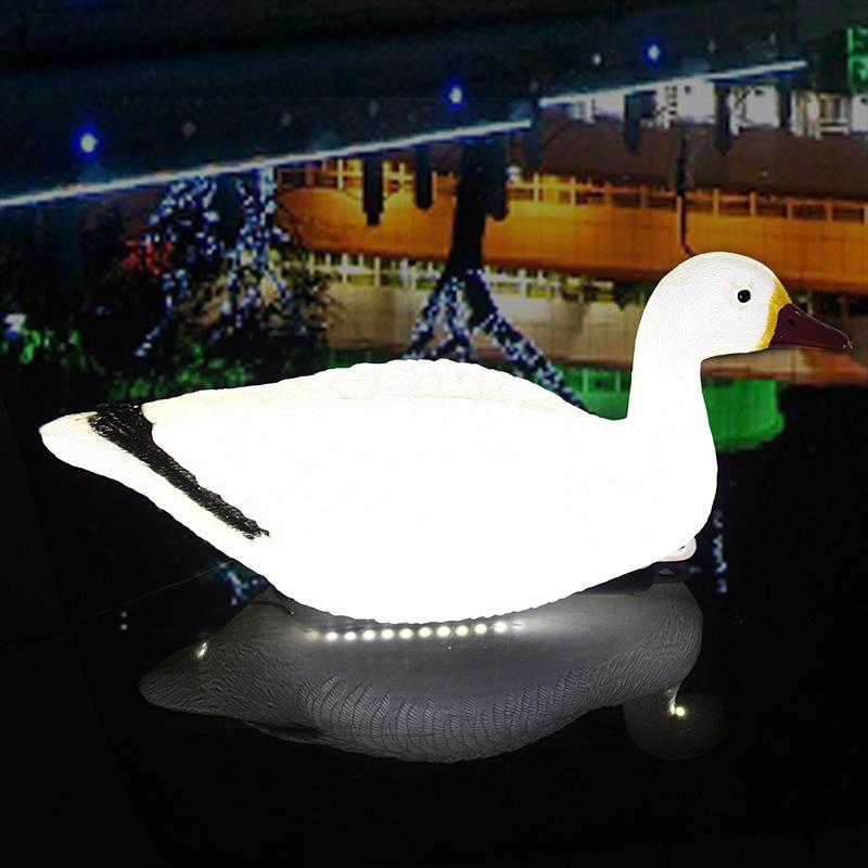 LED景观亮化发光浮水仿真鸭子景观灯池塘水池造景美陈亮化工程景观装饰灯 型号LGM-DZD-YZD345