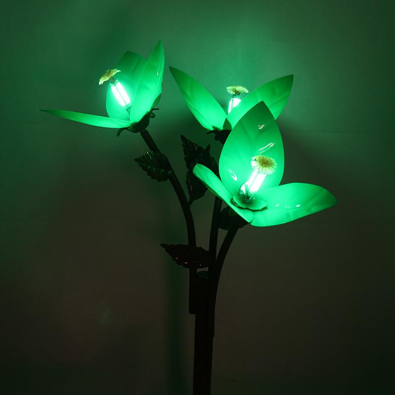 景观亮化三叶梅花灯led户外景观灯庭院造型灯商场广场绿化带亮化艺术灯光 型号LGM-DZD-HD351