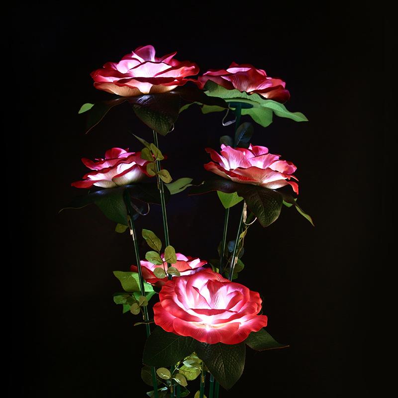 LED景观亮化组合大红玫瑰花芦苇景观灯户外防水景观灯具公园景区美陈亮化灯 型号LGM-DZD-HD356