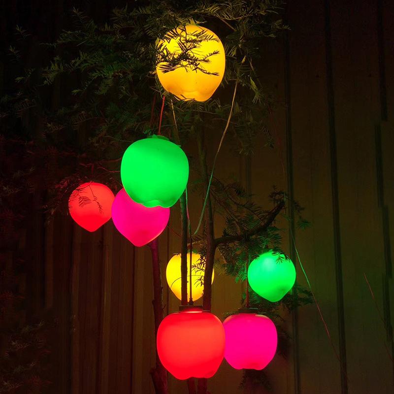led景观亮化仿真苹果灯景观灯装饰灯树木挂饰灯公园庭园美陈亮化树木装饰灯 型号LGM-JRD-PGD375