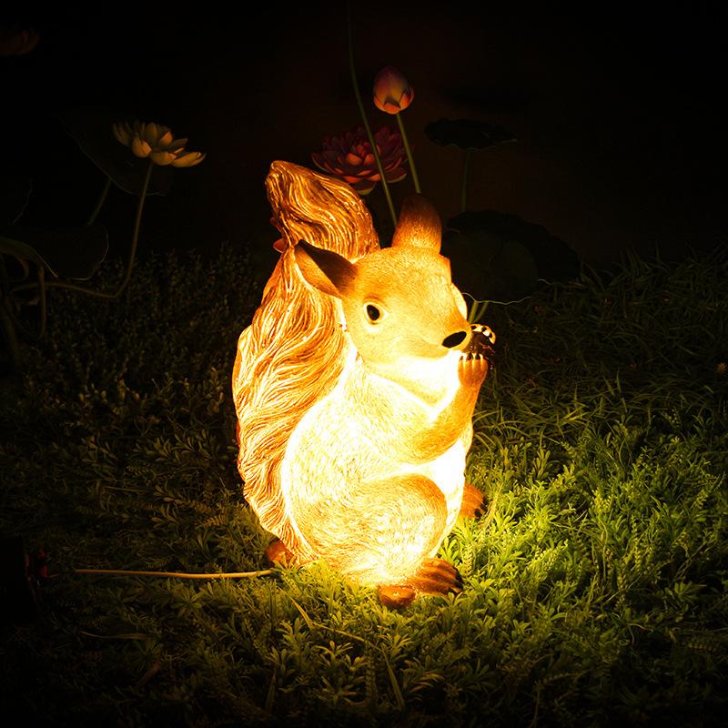LED景观亮化松鼠造型灯树脂造型景观灯透光动物景观灯户外防水公园景观灯 型号LGM-DZD-DWD385