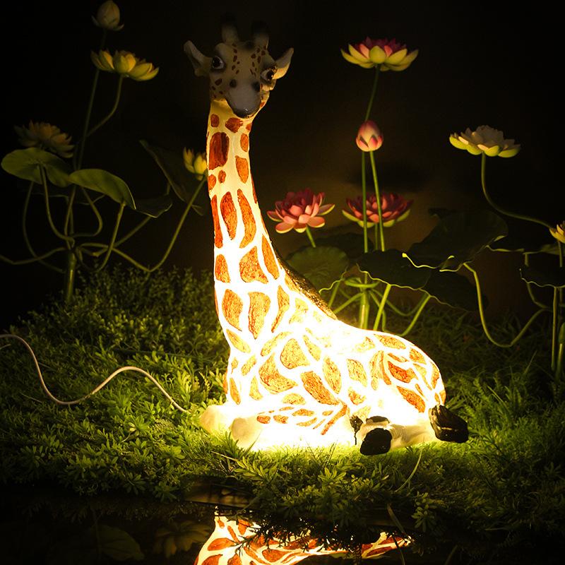 LED景观亮化长颈鹿造型灯树脂造型景观灯透光动物景观灯户外防水公园景观灯 型号LGM-DZD-DWD388