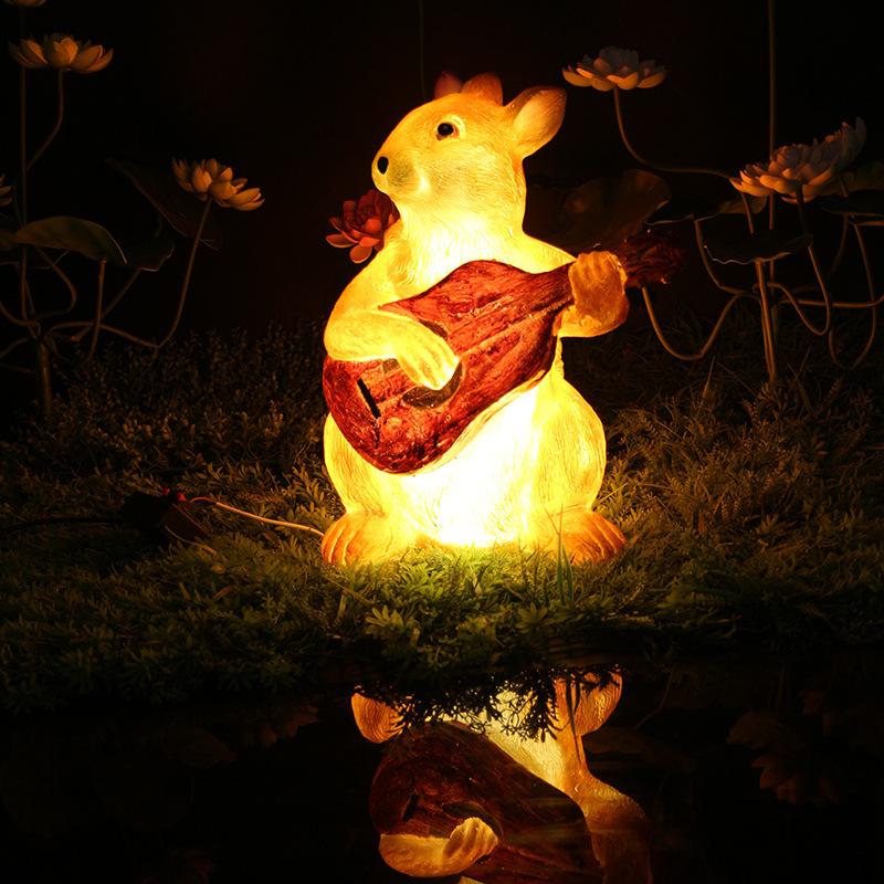 led景观亮化松鼠造型灯树脂造型景观灯透光动物景观灯户外防水公园景观灯 型号LGM-DZD-DWD396