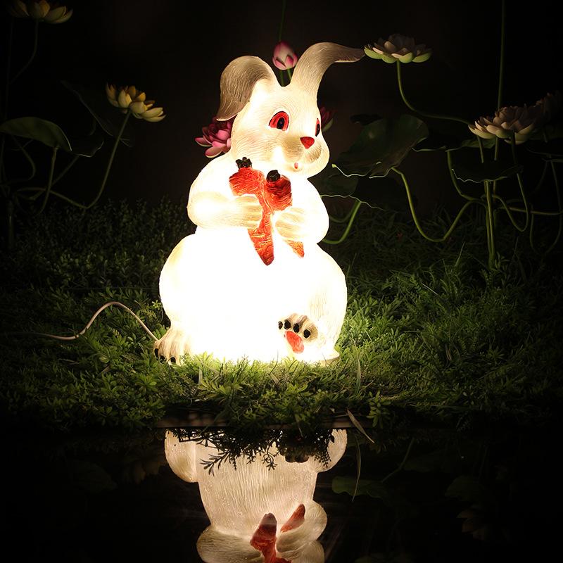 led景观亮化兔子造型灯树脂造型景观灯透光动物景观灯户外防水公园景观灯 型号LGM-DZD-DWD397