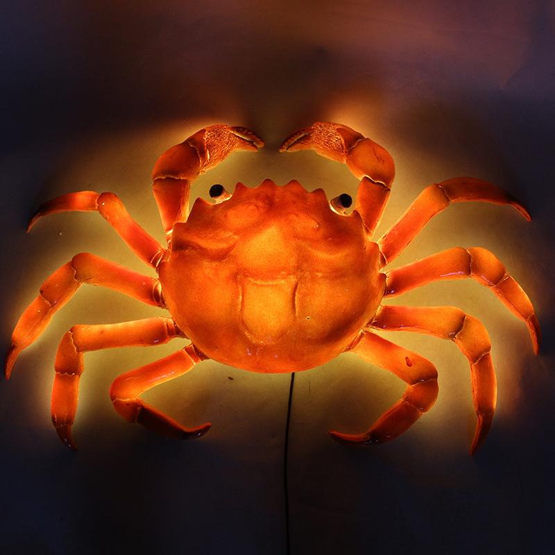 led景观亮化螃蟹灯树脂动物灯水池景观灯发光海鲜蟹灯户外防水景观草坪装饰灯 型号LGM-DZD-DWD410